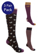 Sherwood Forest Aldersey Womens Pack of 3 Socks