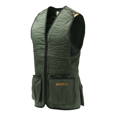 Beretta Trap Cotton Vest - Green/ Black