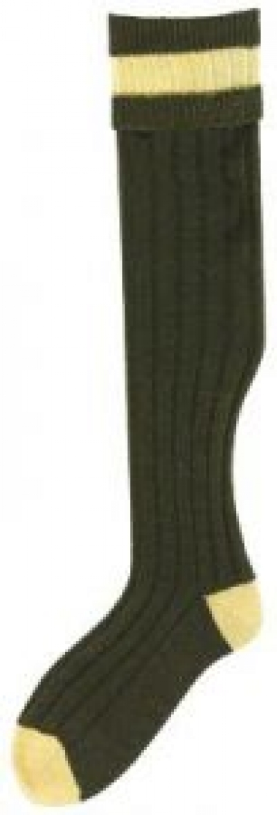 Bisley No16 Stockings - Olive/Mustard