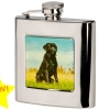 Bisley Black Labrador Stainless Steel Flask image 1