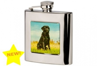 Bisley Black Labrador Stainless Steel Flask