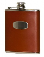 Bisley Leather Flask 6oz