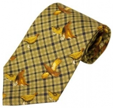 Bisley Green Grouse Silk Tie