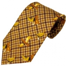 Bisley Brown Grouse Silk Tie