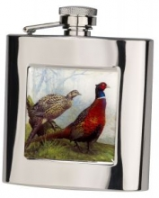 Bisley Pheasant Stainless Steel Flask