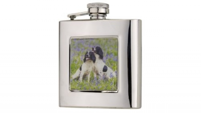 Bisley 6oz Square Spaniels Flask