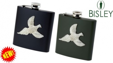 Coloured Metal Hip Flask - Pheasant