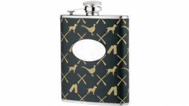 Bisley Game Pattern 6oz Flask
