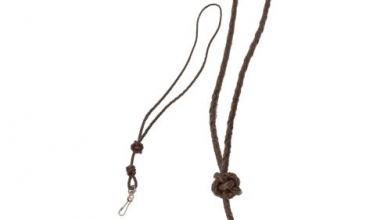 Plaited Leather Lanyard