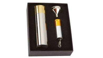 Bisley Cartridge Flask & Torch Gift set
