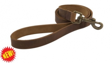Heritage Leather Chestnut Dog Lead