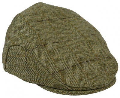Derby Tweed Flat Cap - Dark Tweed