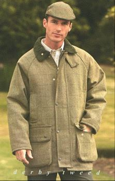 Derby Tweed Shooting Jacket - Sage