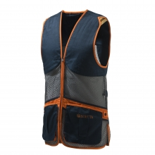 Beretta Full Mesh Vest - Blue, Grey and Orange