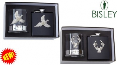 Glass and Flask Gift Set