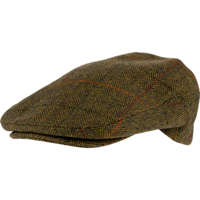 Jack Pyke Wool Blend Flat Cap Tweed - Green