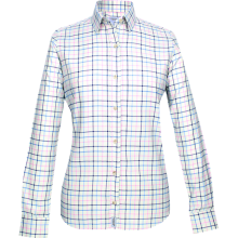 Jack Pyke Ladies Countryman Shirt - Large Check Navy