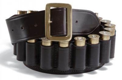 20G Croots Malton Leather Cartridge Belt