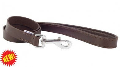 Vintage Padded Leather Dog Lead